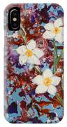 Plumeria Splash IPhone Case