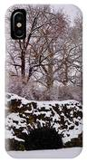 Plymouth Meeting Lime Kilns In The Snow IPhone Case