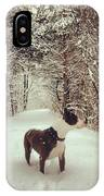 Pogo's First Snow Day IPhone Case