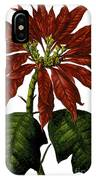 Poinsettia A Traditional Christmas Plant Vintage Poster IPhone Case