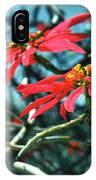 Poinsettia Africa IPhone Case