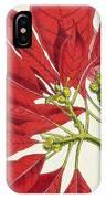 Poinsettia Pulcherrima IPhone Case