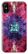 Pointed Star Flower Watercolor IPhone Case
