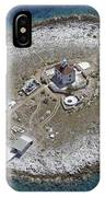 Pokonji Dol Lighthouse From Air IPhone Case