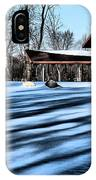 Pole Barns In The Winter IPhone Case