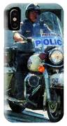 Police - Motorcycle Cop IPhone Case