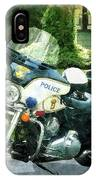 Police - Police Motorcycle IPhone Case