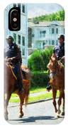 Police - Two Mounted Police IPhone Case