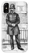 Policeman, C1885 IPhone Case