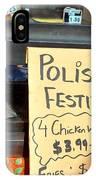 Polish Food Street Stand IPhone Case