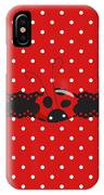 Polka Dot Lady Bugs Graphics By Kika Esteves  With Custom Coordinated Design Crafted By D Miller.  IPhone Case