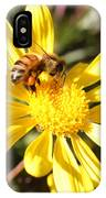 Pollen-laden Bee On Yellow Daisy IPhone Case