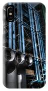 Pompidou Pipes IPhone Case