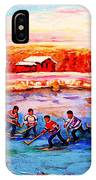 Pond Hockey Game By Montreal Hockey Artist Carole Spandau IPhone Case