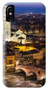 Ponte Pietra And Duomo Of Verona Dusk IPhone Case