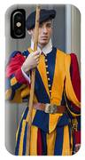 Pontifical Swiss Guard IPhone Case