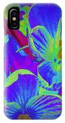 Pop Art Blue Crocuses IPhone Case