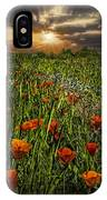 Poppies Art IPhone Case