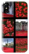 Poppies At The Tower Collage IPhone Case