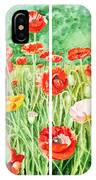 Poppies Collage I IPhone Case