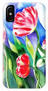 Poppies Field Square Quilt  IPhone Case
