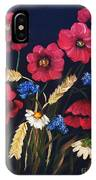 Poppies In Oils IPhone Case