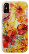 Poppies On Fire IPhone Case