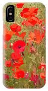 Poppies Vii IPhone Case