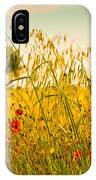 Poppies With Tree In The Distance IPhone Case