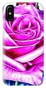 Poppin Purple Rose IPhone Case