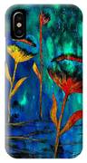 Poppy At Night Abstract 1 IPhone Case