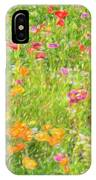 Poppy Confusion Painterly Textured IPhone Case