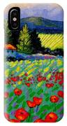 Poppy Field - Provence IPhone Case