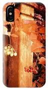 Porch Post Berries Rust IPhone Case