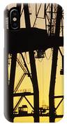 Port Of Seattle Cranes Silhouetted IPhone Case