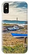 Portencross Harbour At Low Tide IPhone Case