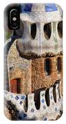 Porter's Lodge Pavilion In Park Guell IPhone Case