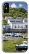 Porthleven Harbor - Low Tide IPhone Case
