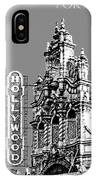 Portland Skyline Hollywood Theater - Pewter IPhone Case