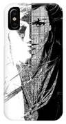 Portrait Art Jennifer Lopez  IPhone Case