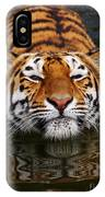 Portrait Of A Bathing Siberian Tiger IPhone Case