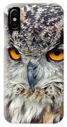 Portrait Of A Great Horned Owl II IPhone Case