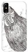 Portrait Of A Little Black Chicken IPhone Case