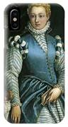 Portrait Of A Woman With A Dog IPhone Case