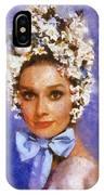 Portrait Of Audrey Hepburn IPhone Case