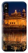 Portrait Of Golden Temple At Night IPhone Case