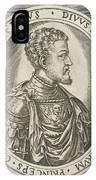 Portrait Of King Philip II Of Spain, Frans Huys IPhone Case
