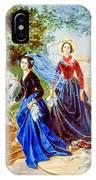 Portrait Of Sisters Shishmarev IPhone Case