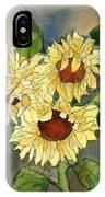 Portrait Of Sunflowers IPhone Case