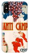 Poster Advertising Chianti Campani IPhone Case